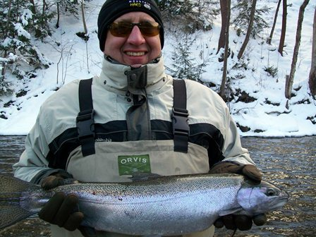 Bill Ganoe with Steelhead Trout