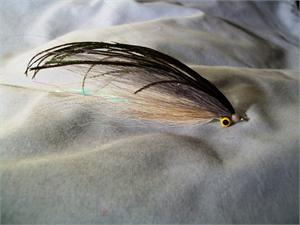 Gray and White Clouser Deep Minnow