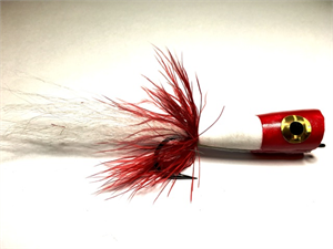 Red and White Saltwater Popper