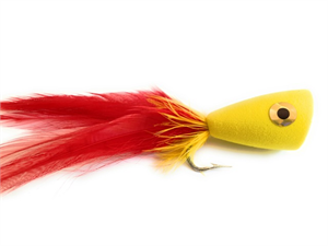Red and Yellow Boilermaker Popper Fly