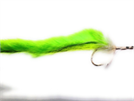 Chartreuse and White Bunny Pike Fly