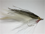 Olive over White Lefty's Deceiver Fly