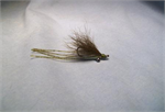 Olive Rubber Leg Crazy Charlie Bonefish Fly