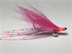 Pink Rubber Legged Crazy Charlie bonefish fly